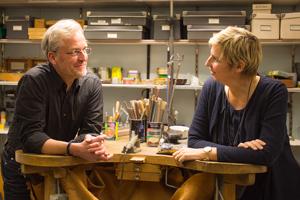 Goldschmiedemeister Bernd Range und seine Frau Anja Range.
